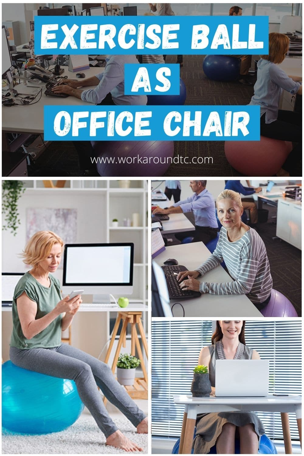 Exercise Ball Desk Chairs