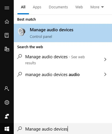 manage audio devices