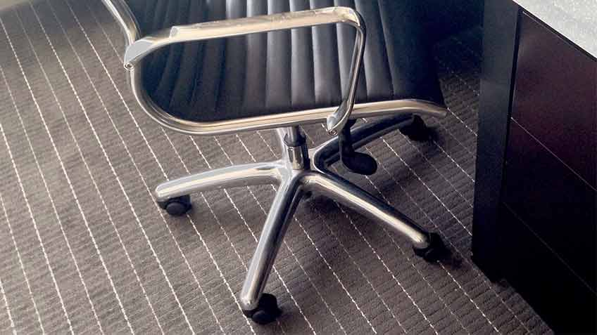 rolling office chair on carpet