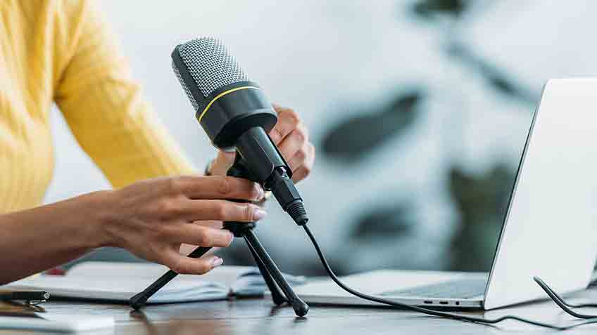 change your microphone location