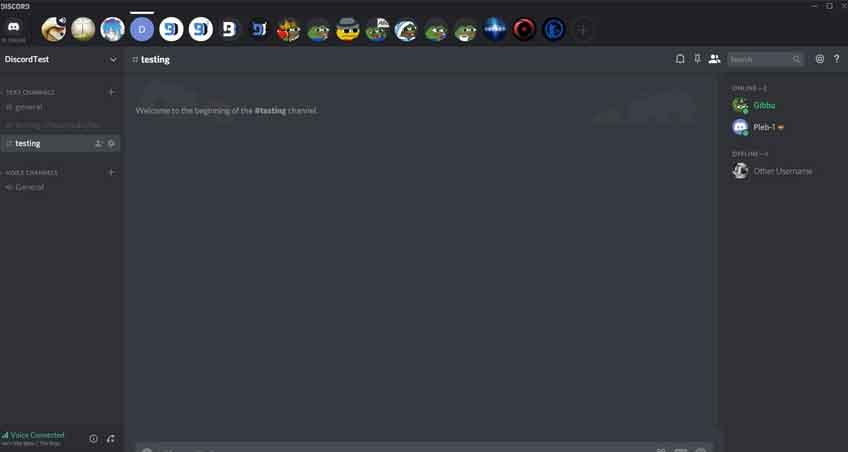 horizontal server list theme