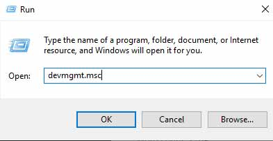 device manager dialogue box
