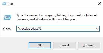 localappdata run box