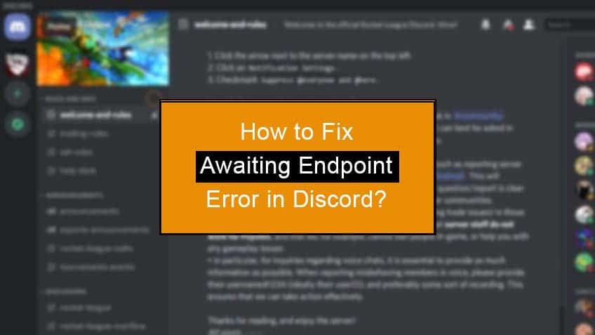 how to fix discord awaiting endpoint