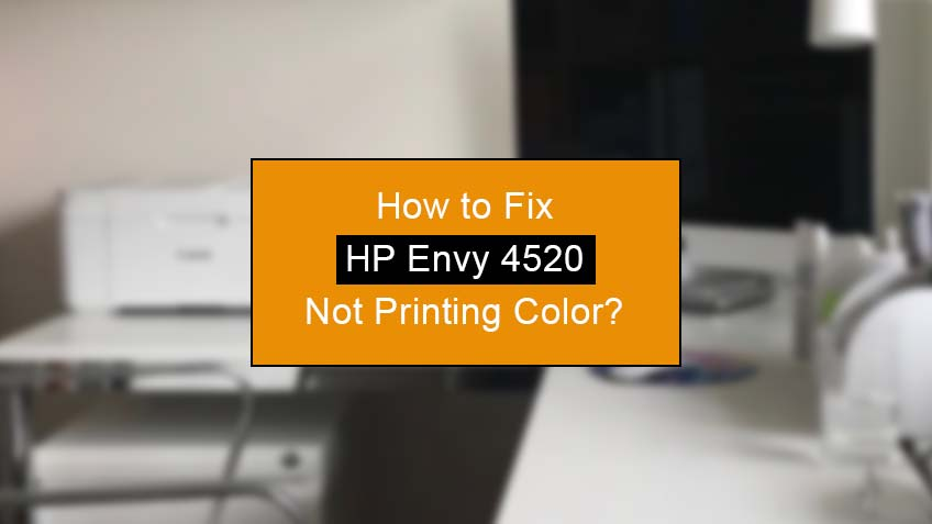 how to fix hp envy 4520 not printing color
